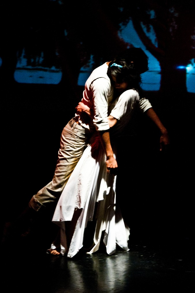 "Angelica Roa dancing with Camilo Salazar in ""Ankasi"""